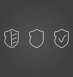 Security set icons draw effect vector