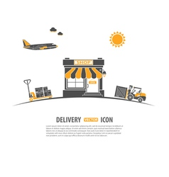 Delivery concept vector