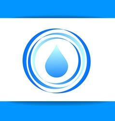 Aqua water drop template vector
