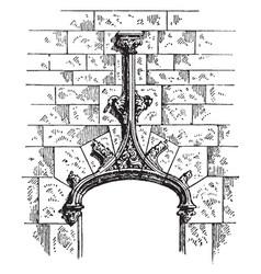 Accolade mouldings vintage engraving vector