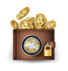 bitcoin wallet abstract technology bitcoin vector image vector image
