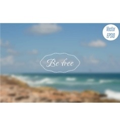 Blurred photo background with turquoise sea waves vector