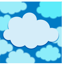 clouds floating on blue sky vector image vector image