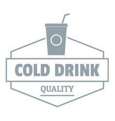 Cold drink logo simple gray style vector