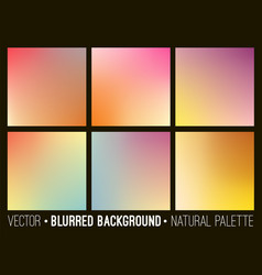 Colorful gradient abstract backgrounds set vector