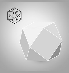 Cuboctahedron is a geometric figure hipster vector