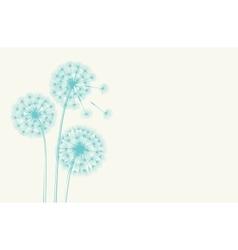 Dandelion concept vector image vector image