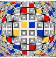 Design colorful warped checked mosaic pattern vector