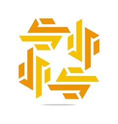 design trapeziodal shuriken orange symbol vector image