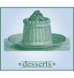 dessert background vector image vector image