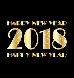 Gold white confetti and stars 2018 on black vector