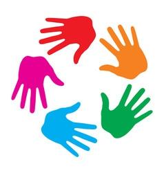 Hand print icon logo vector