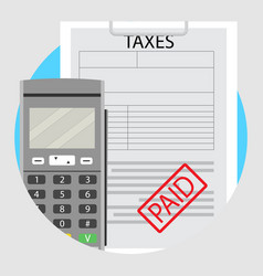 icons paid taxes vector image vector image