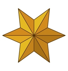 Isolated star of nativity design vector