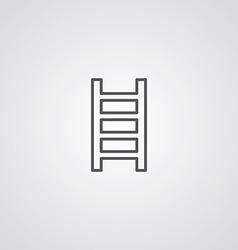 ladder outline symbol dark on white background vector image vector image