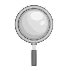 Magnifier icon black monochrome style vector image vector image