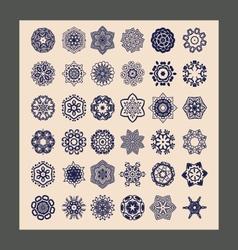 mandalas set Decorative ethnic vector image vector image