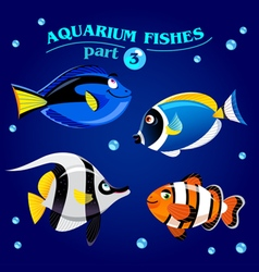 marine aquarium fishes vector image