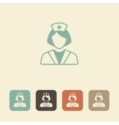 Medical professional Nurse icon vector image