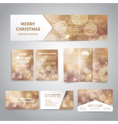 Merry christmas banners vector
