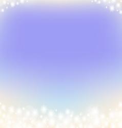 Purple dreamy fairy tale abstrack sparkling frame vector