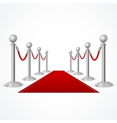 Red event carpet isolated on white vector