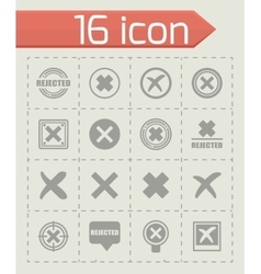 Rejected icon set vector image vector image