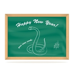 School Board with snake vector image vector image