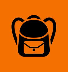 School rucksack icon vector