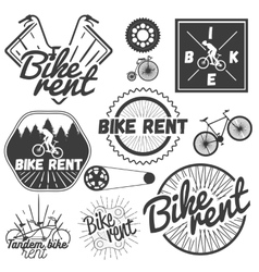 set of bicycle labels in vintage style vector image vector image