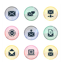 set of simple mail icons vector image vector image