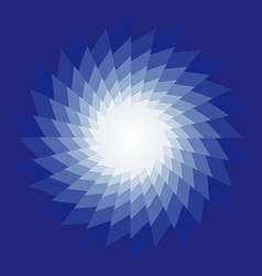 Spiral radiating sun burst on vector image vector image