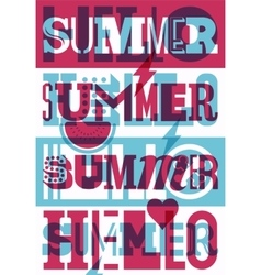 Summer typographic retro poster design vector image vector image