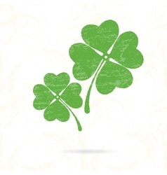Symbol of clover with four petals vector