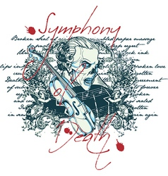 Symphony of death vector image