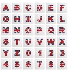 uk alphabet vector image vector image