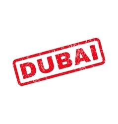 Dubai text rubber stamp vector