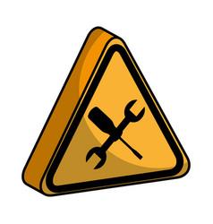 Triangle caution signal icon vector