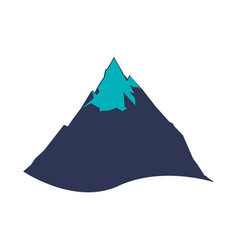 Mountain peak isolated vector