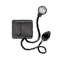 Scribble blood plessure apparatus cartoon vector