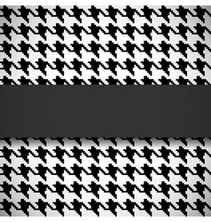 Houndstooth seamless pattern vector