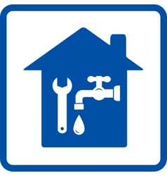 Plumbing sign with house vector