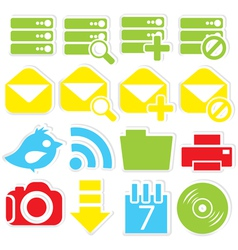 Internet icons database vector image