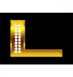 letter l vector image