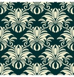 Gothic floral beige pattern vector