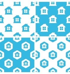 House patterns set vector