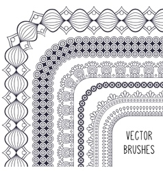 Ethnic brush collection vector