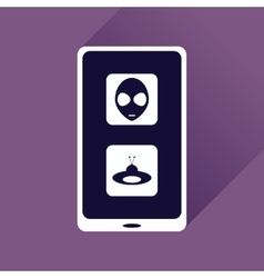 Flat web icon with long shadow mobile viruses vector