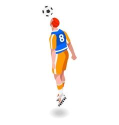 Soccer header 2016 sports isometric 3d vector