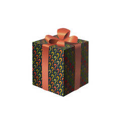 a colorful gift box with question marks print vector image vector image